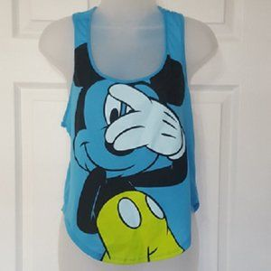 Mickey Mouse Blue Tank Top | Girls L (11/13)